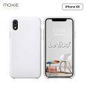 Moxie Coque iPhone XR [BeFluo] Coque Silicone Fine et Légère pour iPhone XR 6.1, Intérieur Microfibre, Coque Anti-chocs et Anti-rayures pour iPhone XR - Blanc