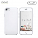 Moxie Coque iPhone 7/8/SE 2020 [BeFluo] Coque Silicone Fine et Légère pour iPhone 8, iPhone 7 et iPhone SE 2020, Intérieur Microfibre, Coque Anti-chocs et Anti-rayures pour iPhone 8/7/SE 2020 - Blanc