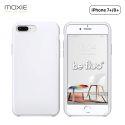 Moxie Coque iPhone 7 Plus/8 Plus [BeFluo] Coque Silicone Fine et Légère pour iPhone 8 Plus et iPhone 7 Plus, Intérieur Microfibre, Coque Anti-chocs et Anti-rayures pour iPhone 8+/7+ - Blanc