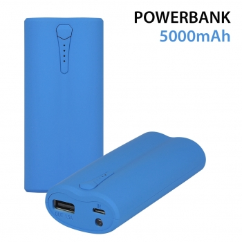 PowerBank 5000 mah Blue