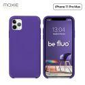 Moxie Coque iPhone 11 Pro Max [BeFluo®] Coque Silicone Fine et Légère pour iPhone 11 Pro Max 6.5- Intérieur Microfibre, Coque Anti-chocs et Anti-rayures pour iPhone 11 Pro Max (2019) 6.5 pouces -Violet