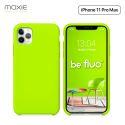 Moxie Coque iPhone 11 Pro Max [BeFluo®] Coque Silicone Fine et Légère pour iPhone 11 Pro Max 6.5- Intérieur Microfibre, Coque Anti-chocs et Anti-rayures pour iPhone 11 Pro Max (2019) 6.5 pouces -Vert Pomme