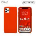Moxie Coque iPhone 11 Pro Max [BeFluo®] Coque Silicone Fine et Légère pour iPhone 11 Pro Max 6.5- Intérieur Microfibre, Coque Anti-chocs et Anti-rayures pour iPhone 11 Pro Max (2019) 6.5 pouces -Rouge