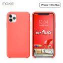 Moxie Coque iPhone 11 Pro Max [BeFluo®] Coque Silicone Fine et Légère pour iPhone 11 Pro Max 6.5- Intérieur Microfibre, Coque Anti-chocs et Anti-rayures pour iPhone 11 Pro Max (2019) 6.5 pouces -Rose Vif