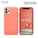 Moxie Coque iPhone 11 Pro Max [BeFluo®] Coque Silicone Fine et Légère pour iPhone 11 Pro Max 6.5- Intérieur Microfibre, Coque Anti-chocs et Anti-rayures pour iPhone 11 Pro Max (2019) 6.5 pouces -Rose Pastel
