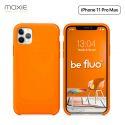 Moxie Coque iPhone 11 Pro Max [BeFluo®] Coque Silicone Fine et Légère pour iPhone 11 Pro Max 6.5- Intérieur Microfibre, Coque Anti-chocs et Anti-rayures pour iPhone 11 Pro Max (2019) 6.5 pouces -Orange
