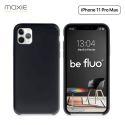 Moxie Coque iPhone 11 Pro Max [BeFluo®] Coque Silicone Fine et Légère pour iPhone 11 Pro Max 6.5- Intérieur Microfibre, Coque Anti-chocs et Anti-rayures pour iPhone 11 Pro Max (2019) 6.5 pouces -Noir