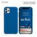 Moxie Coque iPhone 11 Pro Max [BeFluo®] Coque Silicone Fine et Légère pour iPhone 11 Pro Max 6.5- Intérieur Microfibre, Coque Anti-chocs et Anti-rayures pour iPhone 11 Pro Max (2019) 6.5 pouces -Bleu Marine