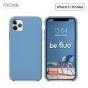 Moxie Coque iPhone 11 Pro Max [BeFluo®] Coque Silicone Fine et Légère pour iPhone 11 Pro Max 6.5- Intérieur Microfibre, Coque Anti-chocs et Anti-rayures pour iPhone 11 Pro Max (2019) 6.5 pouces -Bleu Acier