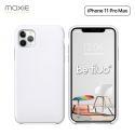 Moxie Coque iPhone 11 Pro Max [BeFluo®] Coque Silicone Fine et Légère pour iPhone 11 Pro Max 6.5- Intérieur Microfibre, Coque Anti-chocs et Anti-rayures pour iPhone 11 Pro Max (2019) 6.5 pouces -Blanc