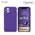 Moxie Coque iPhone 11 Pro [BeFluo] Coque Silicone Fine et Légère pour iPhone 11 Pro 5.8- Intérieur Microfibre, Coque Anti-chocs et Anti-rayures pour iPhone 11 (2019) 5.8 pouces -Violet