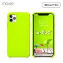 Moxie Coque iPhone 11 Pro [BeFluo] Coque Silicone Fine et Légère pour iPhone 11 Pro 5.8- Intérieur Microfibre, Coque Anti-chocs et Anti-rayures pour iPhone 11 (2019) 5.8 pouces -Vert Pomme