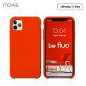 Moxie Coque iPhone 11 Pro [BeFluo] Coque Silicone Fine et Légère pour iPhone 11 Pro 5.8- Intérieur Microfibre, Coque Anti-chocs et Anti-rayures pour iPhone 11 (2019) 5.8 pouces -Rouge