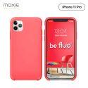 Moxie Coque iPhone 11 Pro [BeFluo] Coque Silicone Fine et Légère pour iPhone 11 Pro 5.8- Intérieur Microfibre, Coque Anti-chocs et Anti-rayures pour iPhone 11 (2019) 5.8 pouces -Rose Vif