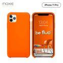 Moxie Coque iPhone 11 Pro [BeFluo] Coque Silicone Fine et Légère pour iPhone 11 Pro 5.8- Intérieur Microfibre, Coque Anti-chocs et Anti-rayures pour iPhone 11 (2019) 5.8 pouces -Orange