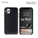 Moxie Coque iPhone 11 Pro [BeFluo] Coque Silicone Fine et Légère pour iPhone 11 Pro 5.8- Intérieur Microfibre, Coque Anti-chocs et Anti-rayures pour iPhone 11 (2019) 5.8 pouces -Noir