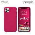 Moxie Coque iPhone 11 Pro [BeFluo] Coque Silicone Fine et Légère pour iPhone 11 Pro 5.8- Intérieur Microfibre, Coque Anti-chocs et Anti-rayures pour iPhone 11 (2019) 5.8 pouces -Framboise