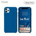 Moxie Coque iPhone 11 Pro [BeFluo] Coque Silicone Fine et Légère pour iPhone 11 Pro 5.8- Intérieur Microfibre, Coque Anti-chocs et Anti-rayures pour iPhone 11 (2019) 5.8 pouces -Bleu Marine