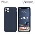 Moxie Coque iPhone 11 Pro [BeFluo] Coque Silicone Fine et Légère pour iPhone 11 Pro 5.8- Intérieur Microfibre, Coque Anti-chocs et Anti-rayures pour iPhone 11 (2019) 5.8 pouces -Bleu Foncé