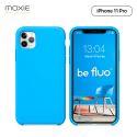 Moxie Coque iPhone 11 Pro [BeFluo] Coque Silicone Fine et Légère pour iPhone 11 Pro 5.8- Intérieur Microfibre, Coque Anti-chocs et Anti-rayures pour iPhone 11 (2019) 5.8 pouces -Bleu Clair