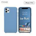 Moxie Coque iPhone 11 Pro [BeFluo] Coque Silicone Fine et Légère pour iPhone 11 Pro 5.8- Intérieur Microfibre, Coque Anti-chocs et Anti-rayures pour iPhone 11 (2019) 5.8 pouces -Bleu Acier