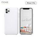 Moxie Coque iPhone 11 Pro [BeFluo] Coque Silicone Fine et Légère pour iPhone 11 Pro 5.8- Intérieur Microfibre, Coque Anti-chocs et Anti-rayures pour iPhone 11 (2019) 5.8 pouces -Blanc
