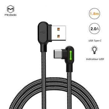 Câble USB Type-C Coudé 90°...