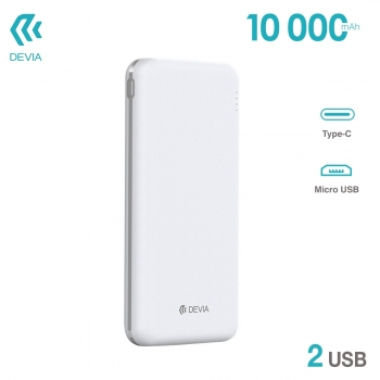Powerbank 10000mAh DEVIA 2...