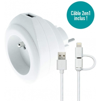 WATT&CO Prise + USB 2.4A...