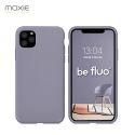 Coque iPhone 11 Pro [BeFluo®] en Silicone - Intérieur Microfibre - Anti-chocs et Anti-rayures - Gris lavande