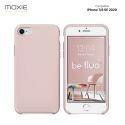 Moxie Coque iPhone 7/8 [BeFluo] Coque Silicone Fine et Légère pour iPhone 6S et iPhone 6, Intérieur Microfibre, Coque Anti-chocs et Anti-rayures pour iPhone 7/8/SE 2020 - Rose Sable