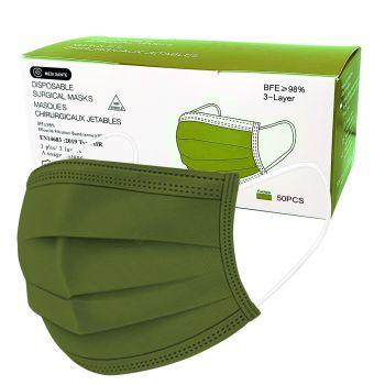Boite de 50 Masques Vert...