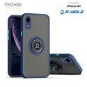 Coque Moxie R-Hold iPhone XR avec ring holder + contour BLEU