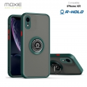 Coque Moxie R-Hold iPhone XR avec ring holder + contour VERT