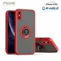 Coque Moxie R-Hold iPhone X/XS avec ring holder + contour Rouge