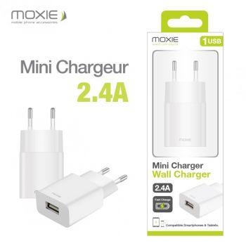 Chargeur secteur 2.4A Moxie...