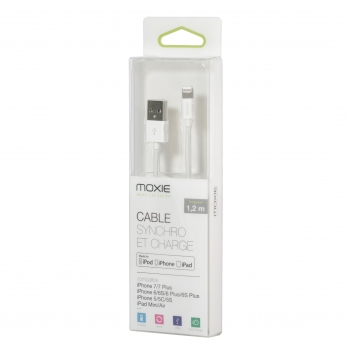 Câble Data Moxie MFi White...
