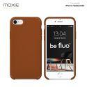 Moxie Coque iPhone 7/8/SE 2020 [BeFluo] Coque Silicone Fine et Légère pour iPhone 8, iPhone 7 et iPhone SE 2020, Intérieur Microfibre, Coque Anti-chocs et Anti-rayures pour iPhone 7/8/SE 2020 - Havane