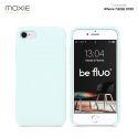 Moxie Coque iPhone 7/8/SE 2020 [BeFluo] Coque Silicone Fine et Légère pour iPhone 8, iPhone 7 et iPhone SE 2020, Intérieur Microfibre, Coque Anti-chocs et Anti-rayures pour iPhone 7/8/SE 2020 - Bleu glacier