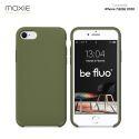 Moxie Coque iPhone 7/8/SE 2020 [BeFluo] Coque Silicone Fine et Légère pour iPhone 8, iPhone 7 et iPhone SE 2020, Intérieur Microfibre, Coque Anti-chocs et Anti-rayures pour iPhone 7/8/SE 2020 - Kaki