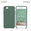 Moxie Coque iPhone 7/8/SE 2020 [BeFluo] Coque Silicone Fine et Légère pour iPhone 8, iPhone 7 et iPhone SE 2020, Intérieur Microfibre, Coque Anti-chocs et Anti-rayures pour iPhone 7/8/SE 2020 - Pin vert