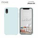 Moxie Coque iPhone XR [BeFluo] Coque Silicone Fine et Légère pour iPhone XR, Intérieur Microfibre, Coque Anti-chocs et Anti-rayures pour iPhone XR - Bleu Glacier
