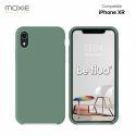 Moxie Coque iPhone XR [BeFluo] Coque Silicone Fine et Légère pour iPhone XR, Intérieur Microfibre, Coque Anti-chocs et Anti-rayures pour iPhone XR - Pin Vert