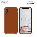 Moxie Coque iPhone XR [BeFluo] Coque Silicone Fine et Légère pour iPhone XR, Intérieur Microfibre, Coque Anti-chocs et Anti-rayures pour iPhone XR - Havane