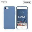 Moxie Coque iPhone 7/8/SE 2020 [BeFluo] Coque Silicone Fine et Légère pour iPhone 8, iPhone 7 et iPhone SE 2020, Intérieur Microfibre, Coque Anti-chocs et Anti-rayures pour iPhone 8/7/SE 2020 - Bleu Acier