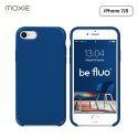 Moxie Coque iPhone 7/8/SE 2020 [BeFluo] Coque Silicone Fine et Légère pour iPhone 8, iPhone 7 et iPhone SE 2020, Intérieur Microfibre, Coque Anti-chocs et Anti-rayures pour iPhone 8/7/SE 2020 - Bleu Marine