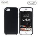 Moxie Coque iPhone 7/8/SE 2020 [BeFluo] Coque Silicone Fine et Légère pour iPhone 8, iPhone 7 et iPhone SE 2020, Intérieur Microfibre, Coque Anti-chocs et Anti-rayures pour iPhone 8/7/SE 2020 - Noir
