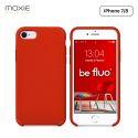 Moxie Coque iPhone 7/8/SE 2020 [BeFluo] Coque Silicone Fine et Légère pour iPhone 8, iPhone 7 et iPhone SE 2020, Intérieur Microfibre, Coque Anti-chocs et Anti-rayures pour iPhone 8/7/SE 2020 - Rouge