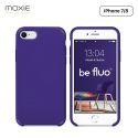Moxie Coque iPhone 7/8/SE 2020 [BeFluo] Coque Silicone Fine et Légère pour iPhone 8, iPhone 7 et iPhone SE 2020, Intérieur Microfibre, Coque Anti-chocs et Anti-rayures pour iPhone 8/7/SE 2020 - Violet