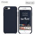 Moxie Coque iPhone 7 Plus/8 Plus [BeFluo] Coque Silicone Fine et Légère pour iPhone 8 Plus et iPhone 7 Plus, Intérieur Microfibre, Coque Anti-chocs et Anti-rayures pour iPhone 8+/7+ - Bleu Foncé